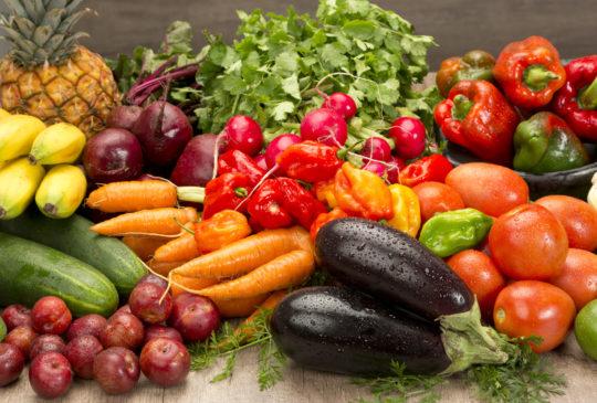 Composition de légumes et de fruits